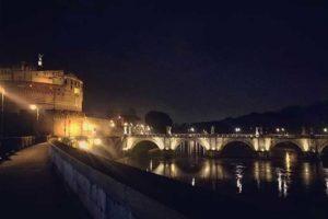 Рим на автомобиле ночью